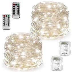 2 Set Fairy Lights Fairy String Lights Battery Operated Wate