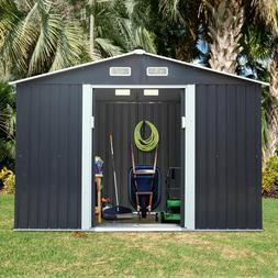 2 Size Outdoor Garden Storage Shed Backyard Lawn Toolshed Ho