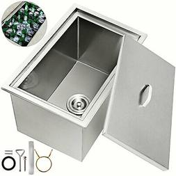 """23""""X17"""" Drop In Ice Chest Bin Cover Home Kitchen Stainle"""