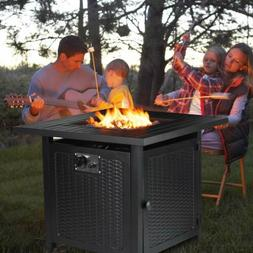 """28"""" Steel Propane Gas Fire Pit Table Fireplace Patio Heater"""
