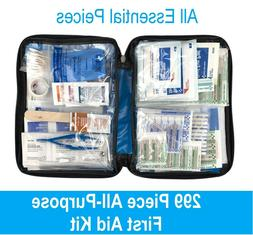 299 pc First Aid Kit Emergency Bag Home Car Outdoor, All Pur