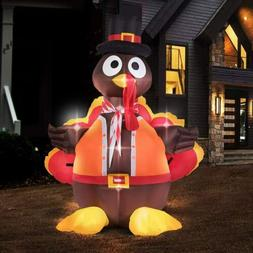 VIVOHOME 5ft Inflatable Turkey LED Airblown Thanksgiving Out