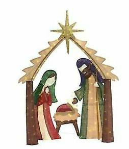Home Accents Holiday 6 FT LED Outdoor Nativity Scene 175 War