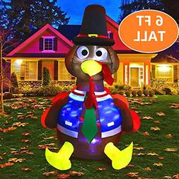 MAOYUE 6ft Inflatable Turkey Thanksgiving Inflatable Outdoor