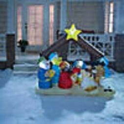"""78"""" Outdoor Blow Up Inflatable Light-Up Nativity Scene"""