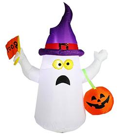 Joiedomi 4.5 ft Halloween Inflatable Blow Up Ghost with Boo