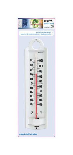 Taylor All Aluminum Indoor / Outdoor Wall 8-7/8 in.Thermomet