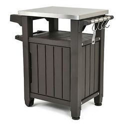 All-Weather Outdoor Serving Station Prep Table Stainless Top