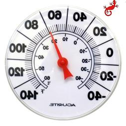 AcuRite Analog Outdoor White Thermometer 8 INCH ROUND