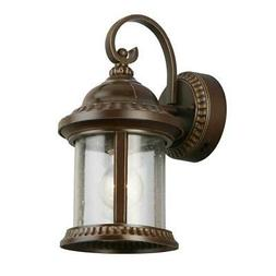 Bronze Outdoor Wall Sconce Lamp Porch Entry Light w/Seeded G