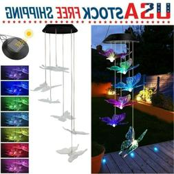 Color Changing LED Solar Powered Butterfly Wind Chime Lights