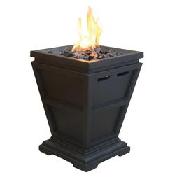 Fire Pit LP Gas Outdoor Heating Electronic Ignition Lava Roc