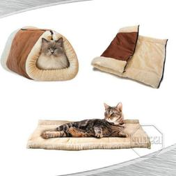 Dog Cat Pet House Sleeping Bed Kennel Puppy Cave Warm Nest S