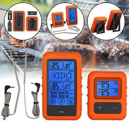 Digital Wireless Remote Meat Cooking Thermometer with 2 Prob