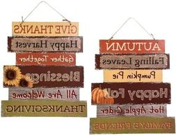 Fall Decoration Hanging Indoor Outdoor Welcome Wood Sign - T