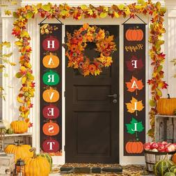 Fall Porch Sign Outdoor Fall Decorations Welcome Sign Happy