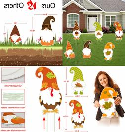 Fall Thanksgiving Yard Sign Decorations Outdoor - 6PCS Large