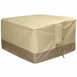Gas Fire Pit Cover Square - 600D Heavy Duty Patio Outdoor Fi