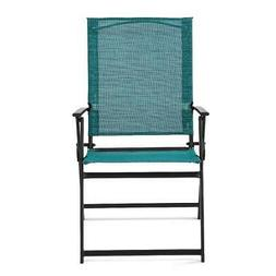 Mainstays Greyson Outdoor Patio Steel Sling Folding Chair, S
