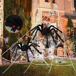 Halloween 23ft*18ft Scary Spider Web Giant Spiders Outdoor I