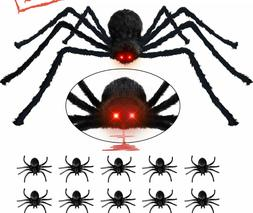 Halloween Decorations Outdoor Spider 4.1ft, with LED Eyes wi
