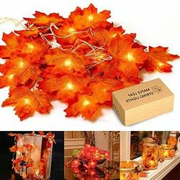 Halloween Maple Leaf Light Hanging Lighting Decorations Outd