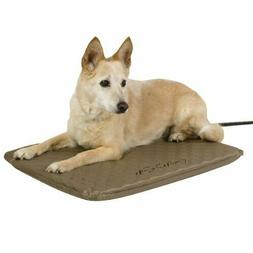 Heated Pet Bed Outdoor Soft Orthopedic Kennel House Warmer D