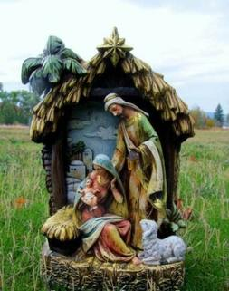 Holy Family Nativity Set Scene in Stable Creche 15 in Indoor