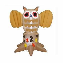 Home Fall Outdoor Yard Decorations- 6FT Inflatable LED Owl f