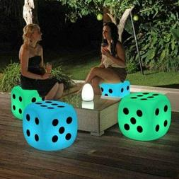 Changing LED Color Light Up Stool Outdoor Indoor Home Decor