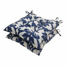Pillow Perfect Indoor/Outdoor Bosco Tufted Seat Cushion, Nav
