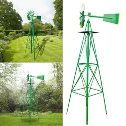 Iron Weather Resistant Outdoor Yard Garden Windmill for Home