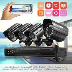 KKMOON 4Channel 1080P DVR Home Outdoor CCTV Security Camera