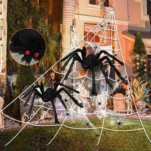 halloween 23ft 18ft scary spider web giant