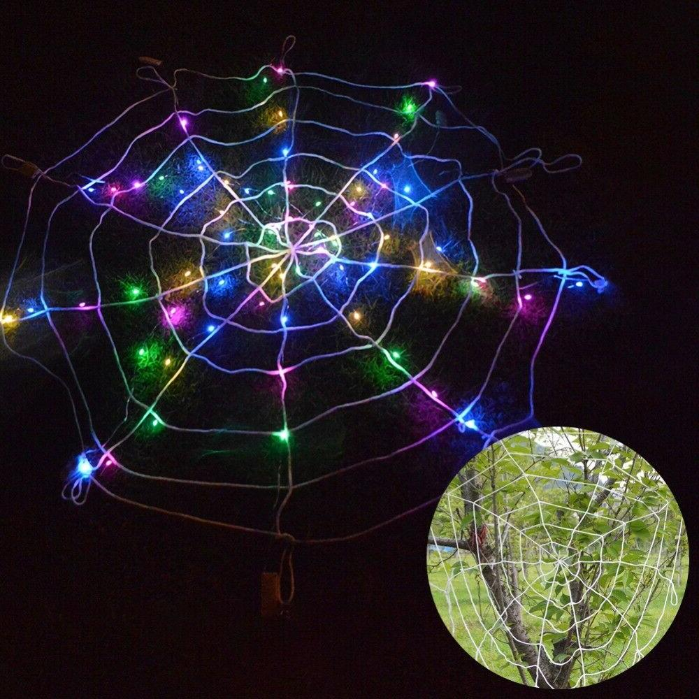 halloween led spider web outdoor horror party