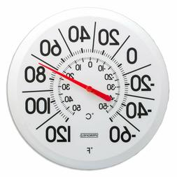 Large Black Number Outdoor Patio Garden Thermometer Temperat