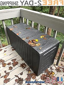 Large Outdoor Deck Storage Box Weather UV Resistant Durable