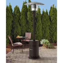Mainstays Large Outdoor Patio Heater, Powder Coat Brown, Pro