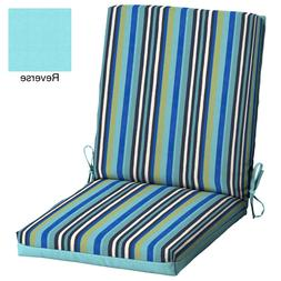 Mainstays Turquoise Striped 43 x 20 In. Outdoor Dining Chair