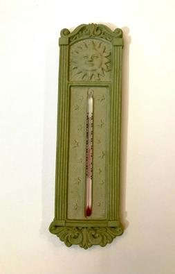 """New 10.5"""" Outdoor Thermometer Decorative Patio Terrace Green"""