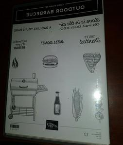 NEW Stampin Up retired OUTDOOR BARBECUE stamp set ~ BBQ, Sum