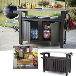 Outdoor Cooking Station Food Prep BBQ Table Grill Serving Ca