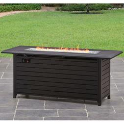Outdoor Gas Fire Pit Table Fireplace Patio Yard Camping Heat