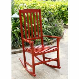 Mainstays Outdoor Wood Porch Rocking Chair, Red