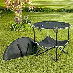 Portable Folding Picnic Table with Bench Storage for Tailgat