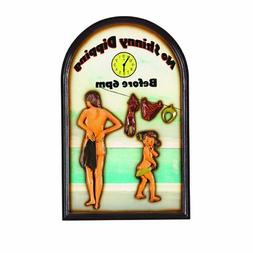 RAM Gameroom Products Outdoor Decor Sign, No Skinny Dipping