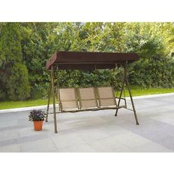 Mainstays Sand Dune 3-Person Outdoor Sling Canopy Porch Swin