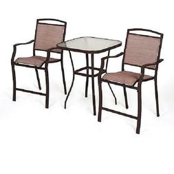 Sand Dune 3-Piece Outdoor Bar Height Bistro Set for Patio an