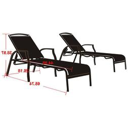 Mainstays Sand Dune Outdoor Chaise Lounges for Patio, Tan, S