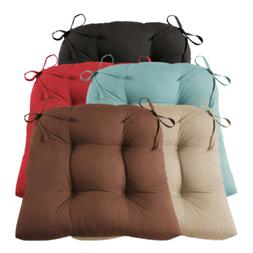 """Set of 4 Dining Chair Cushions Faux Suede 14.5"""" Seat Pad Out"""